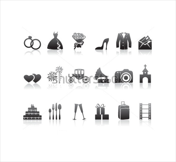 Minimalistic Wedding Icons