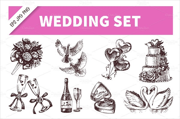 vintage Wedding Icons