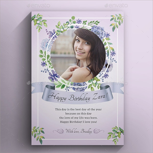 P|rintable Birthday Greeting Card for Women