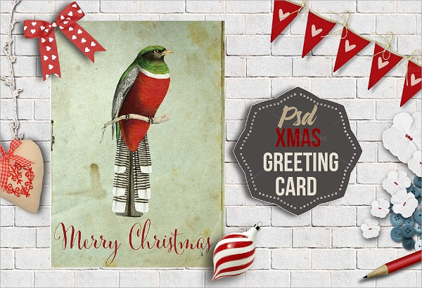 Editable Xmas Greeting Card