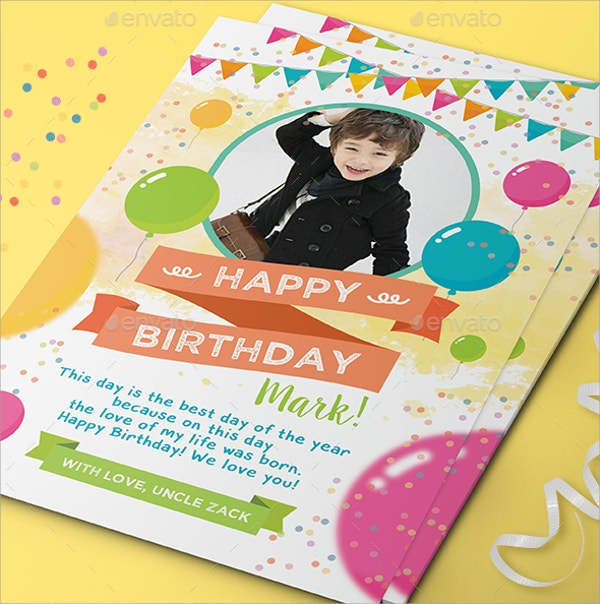 kids birthday greeting card