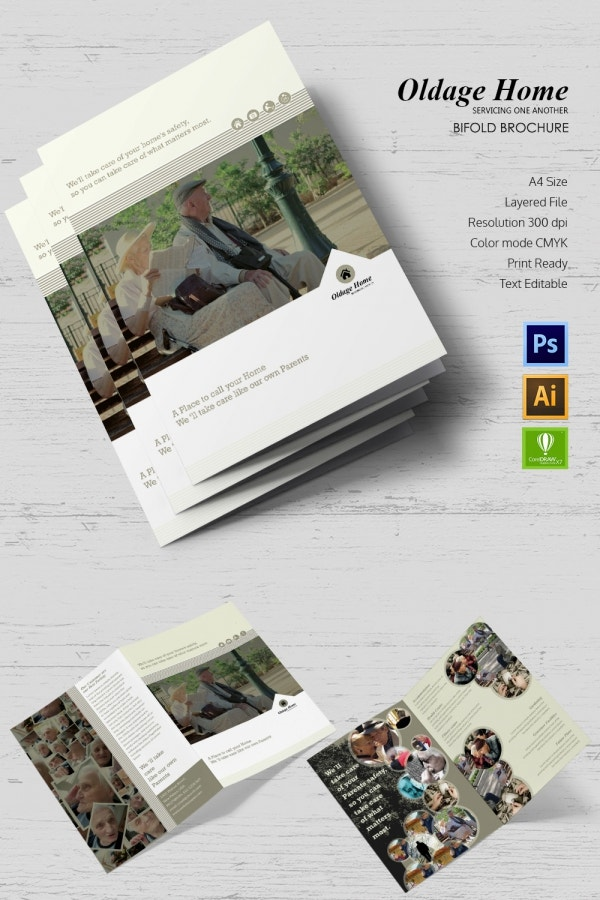 old age home bifold brochure