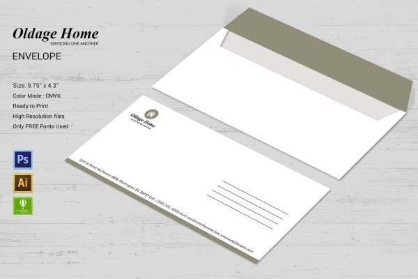 Old Age Home Envelope