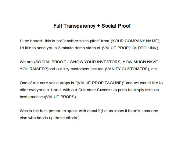 full transparency social proof