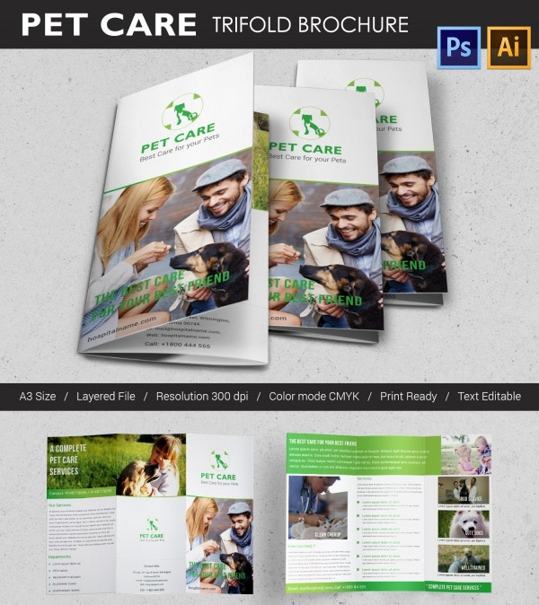 Pet Care Tri-fold Brochure Template