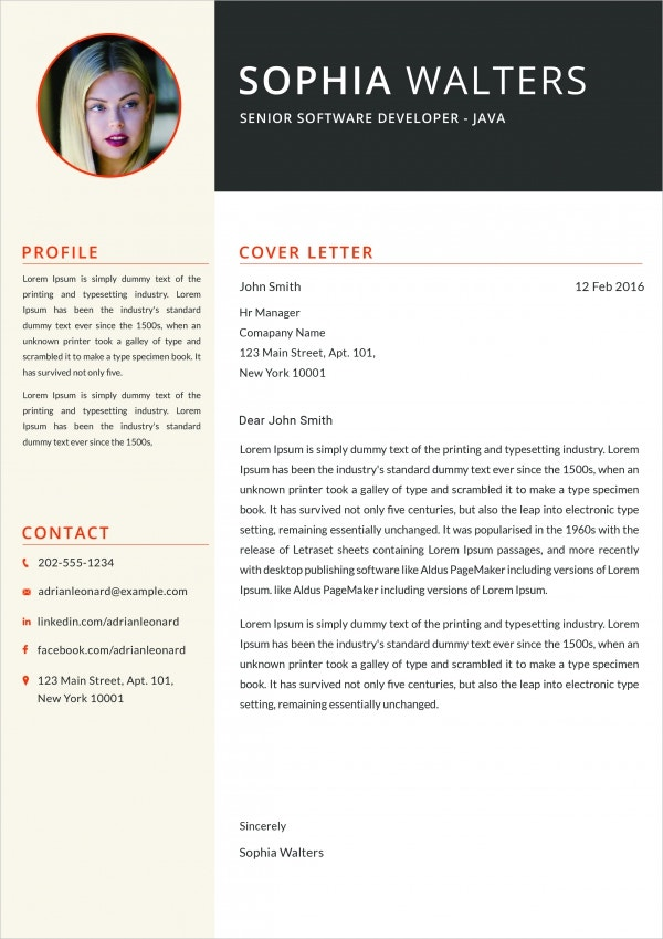 Attractive Java Developer Cover Letter Example