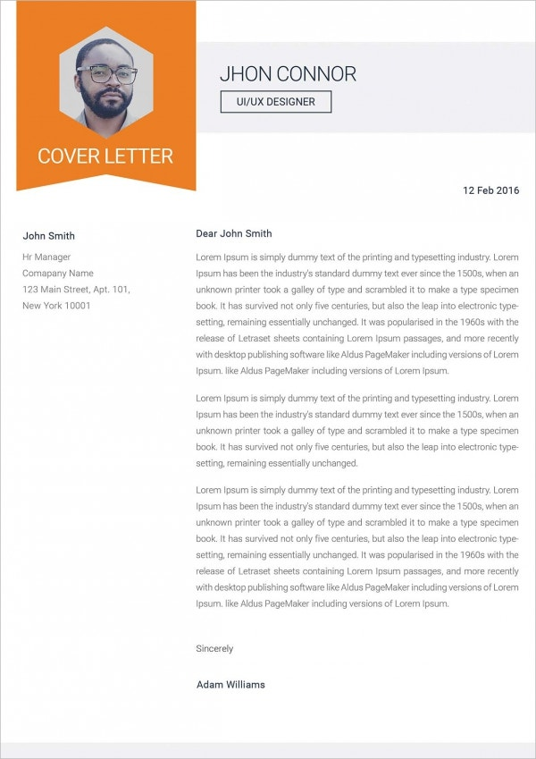 Interface Developer Cover Letter