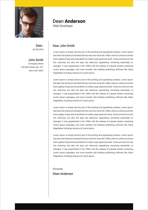 Web Developer Cover Letter Example