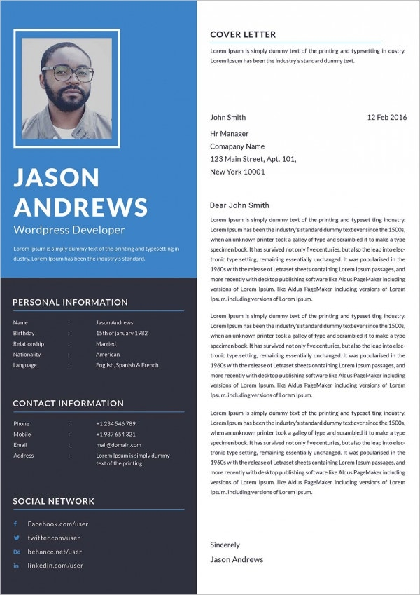 WordPress Developer Cover Letter Example