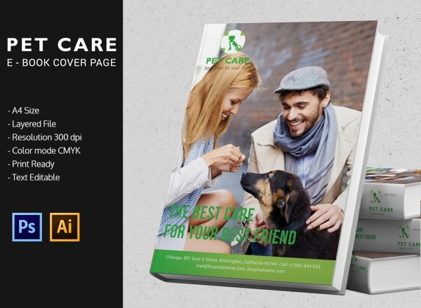 Pet Care eBook Cover Page Template