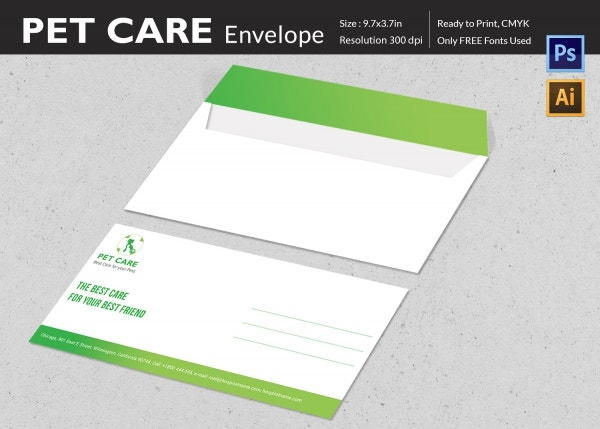 Pet Care Envelope Template