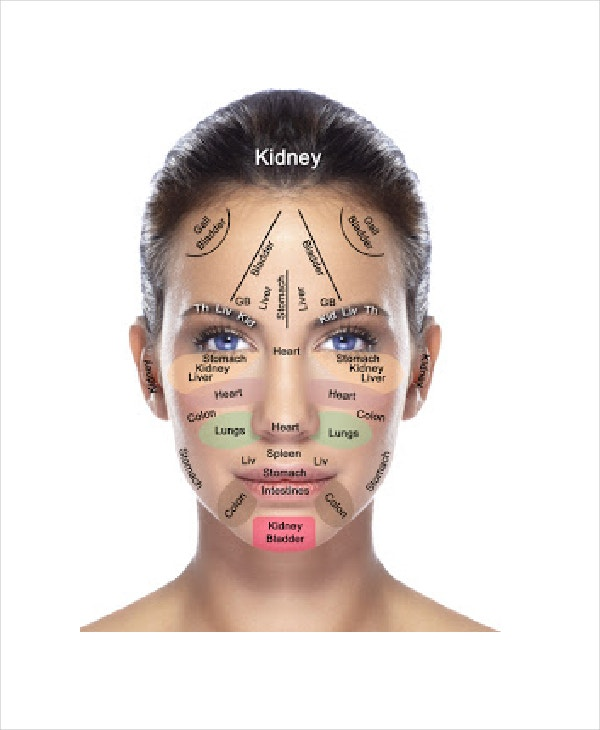 Face Reflexology Chart Template