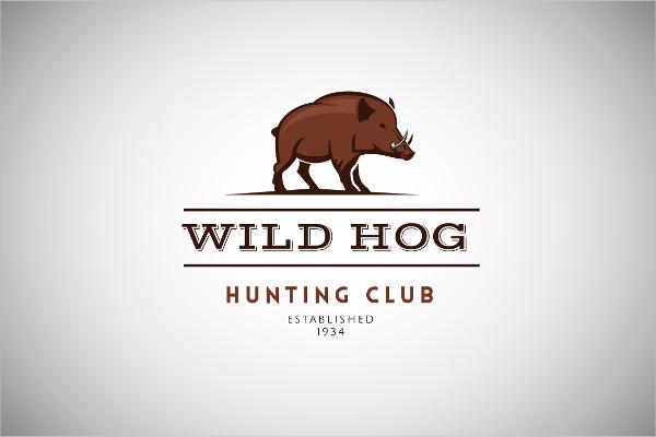 hog vintage logo template
