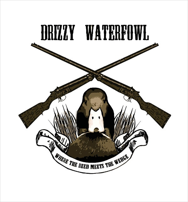 duck hunting club logo