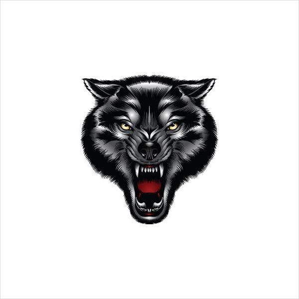 realistic wolf logo