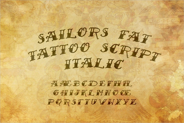 Nautical Tattoo Font