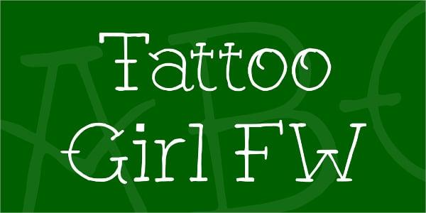 Girl FW Tattoo Font