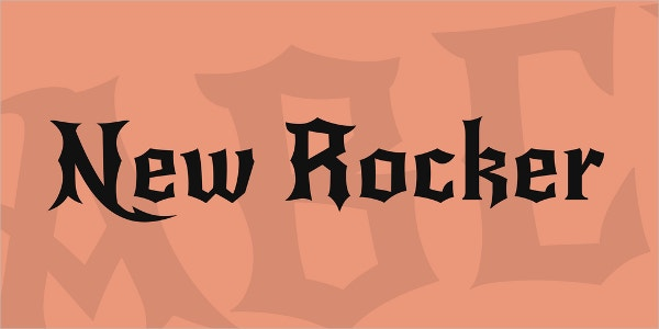 New Rocker Tattoo Font