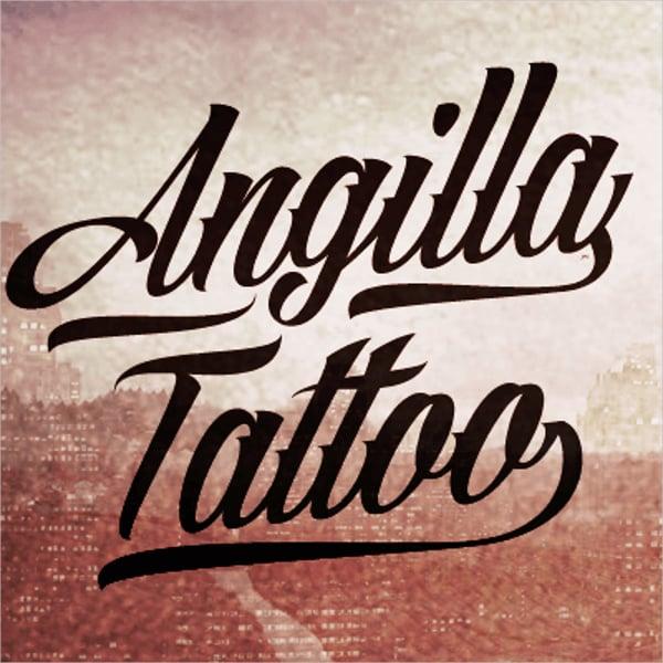 angilla tattoo font1