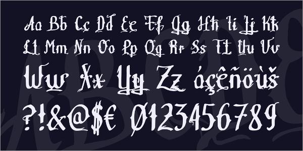 Teitheas Tattoo Font