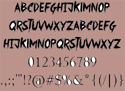Strange Tattoo Font