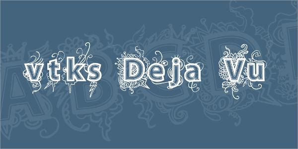 floral tattoo font