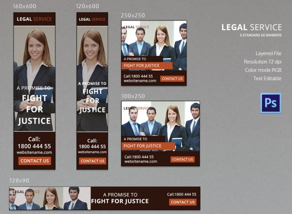 legal services ad banners template