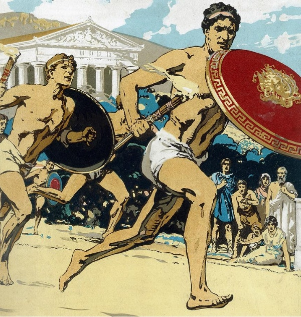 Ancient Olympic Games The Relay Race Artwork