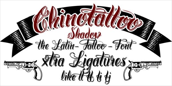 Chino Tattoo Font