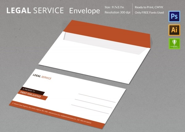 legal services envelope