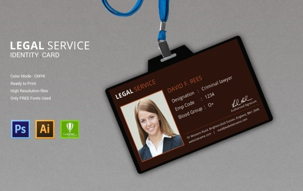 legal services identity card