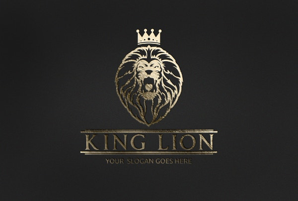 Blue lion logo with crown - photo#32