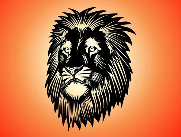 free lion head graphics