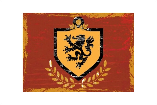 Lion Shield Coat of Arms Free vector