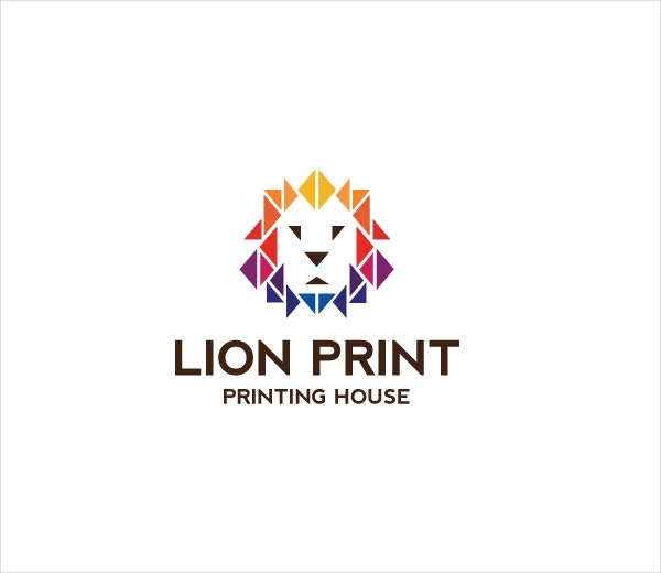 lion print logo