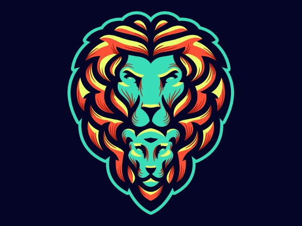 Designed Lion Logo