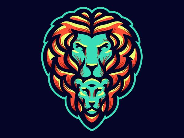 Designed Lion Logo