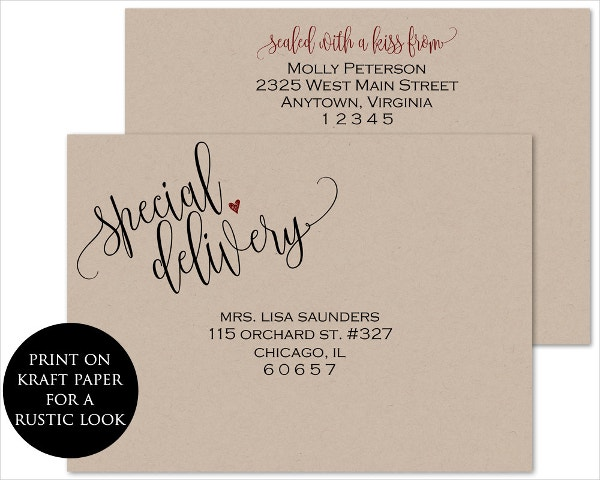 printable envelope address template