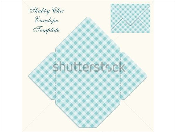 Printable Cute Retro Envelope Template