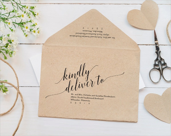 Printable Calligraphy Envelope Template