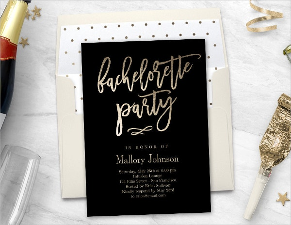 Printable Bachelorette Party Invitation Envelope