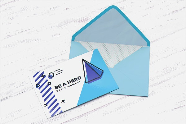 printable postcard with envelope mockup