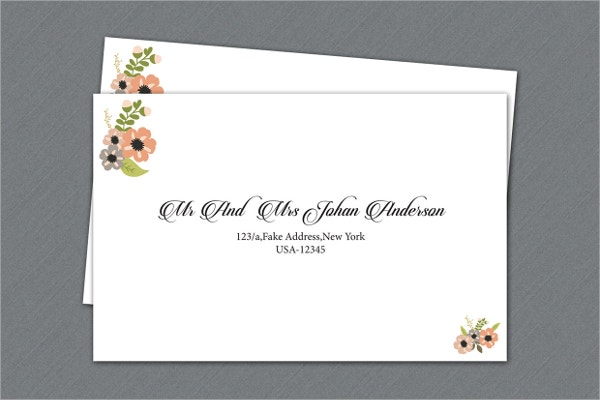 Printable Wedding Invitation Envelope