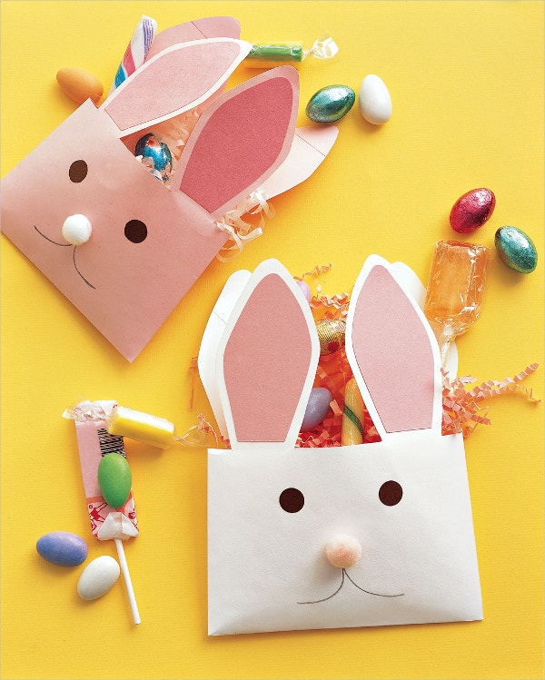 Printable Rabbit Paper Envelope