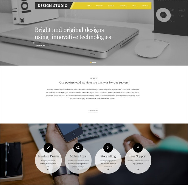 Design Studio WordPress Theme $75