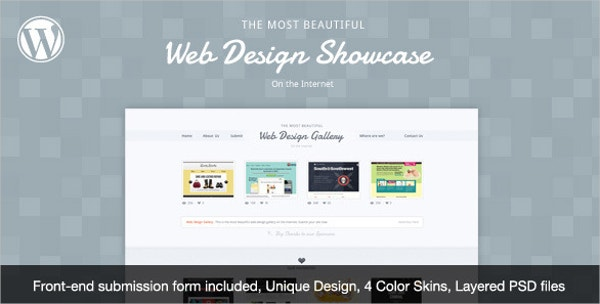 Web Design Showcase WordPress Theme $44
