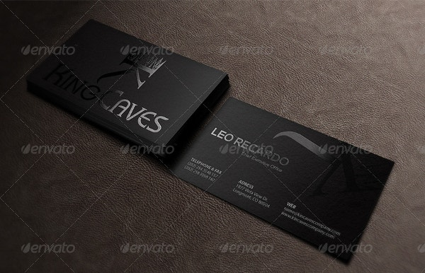 black spot uv business card