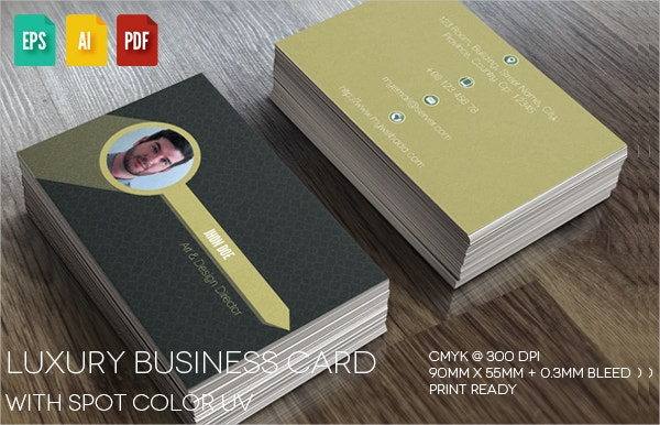 Luxury Spot Uv Business Card