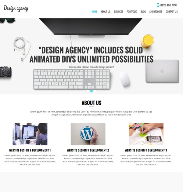 Design Agency WordPress Theme $39