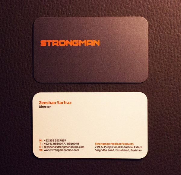 strongman spot business card
